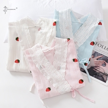 Japanese Kimono Pajamas Clothing Yukata 2PCS Home Confinement Double-Layermaternity Nursing