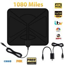 1080 Mile 4K 1080P Digital TV Antenna For DVB-T HDTV Freeview Television Aerial Satellite Receiver USB Single Amplifi