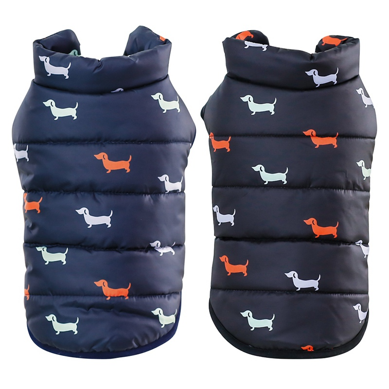 Waterproof Dog Jacket Made with Polyester Cotton and Fleece Material for Autumn and Winter 2