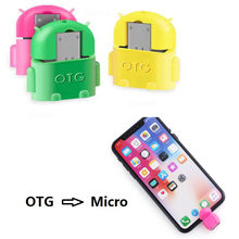 Otg micro usb otg cabo adaptador 2.0 conversor para o telefone móvel android usb tablet pc para flash drive mouse otg hub(China)