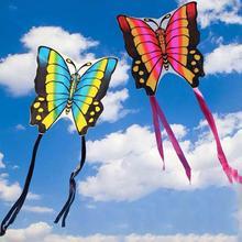 Любители Бабочка Воздушные змеи Полет Игрушки Для Детей Нейлон Рипстоп Ткань Одинарный Леска Воздушные змеи Поводок Papercut Погода Ветер Легко Летать Летать