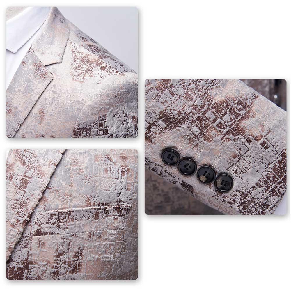 New Men Blazer Wedding & Party Jackets Suit Men's Two Buttons &Black Jacquard &Floral Printed Business Leisure Fashion - 6