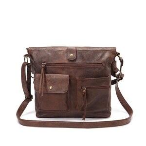 Image 5 - 女性のバッグのショルダーバッグ女の子のためのpuレザーハンドバッグクロスボディはパケットのファッション高品質カジュアルトート 14laptopバッグ