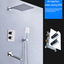 Valve Thermostatic Shower-Faucets Concealed-Mounted Mixing-Valve-Switch Wall-Box Temperature