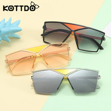 KOTTDO Square Metal Children Sunglasses Kids Brand Designer
