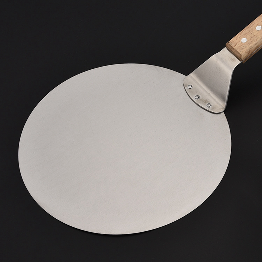 US $20.20 20% OFFHolz Klinge R Edelstahl Pizza Spachtel 20cm Schälen  Schaufel Turner Kuchen Heber Tray Pan Home Küche Backen Gebäck Werkzeuge
