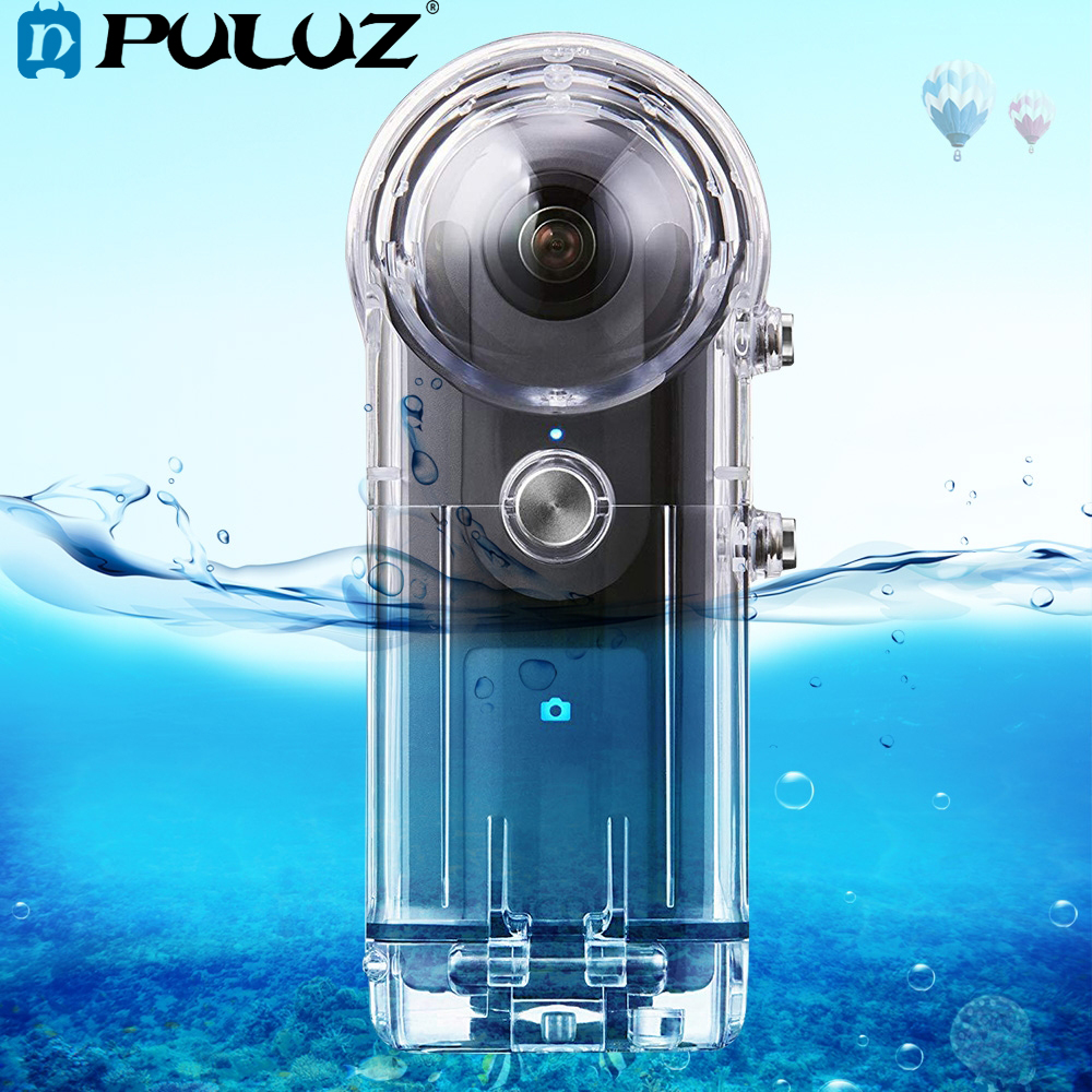 PULUZ 30M Waterproof Case For RICOH Theta V/Theta S & SC360 360 Degree Camera Accessories Housing Case Diving Protective Shell-in Camera/Video Bags from Consumer Electronics