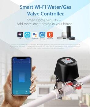 цена на Tuyasmart WIFI  remote control Gas Water Valve Home Automation System Valve Voice Control Work With Alexa Echo Google Home
