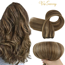 VeSunny Hair Weft Sew In Hair Extensions Balayage Weft Hair Extensions 100g Weave In