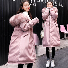 Warm Medium Long Down Jacket For Pregnant Winter Hooded Female Overcoat Loose Thick Long Coat Maternity Clothes Maternity Coat