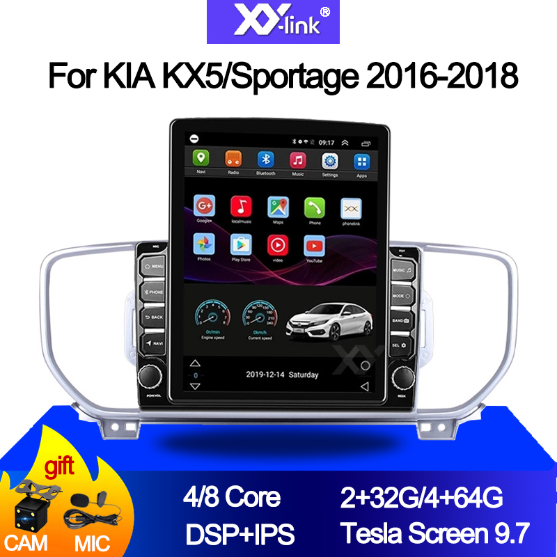 9.7 inch Tesla Vertical Screen 4G LTE <font><b>car</b></font> dvd multimedia player radio Stereo navi system for <font><b>KIA</b></font> KX5/<font><b>Sportage</b></font> 4 2016-2018 audio image
