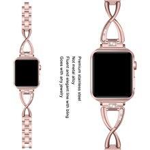Ремешок Алмазный для apple watch 3 38 мм 40 сменный металлический