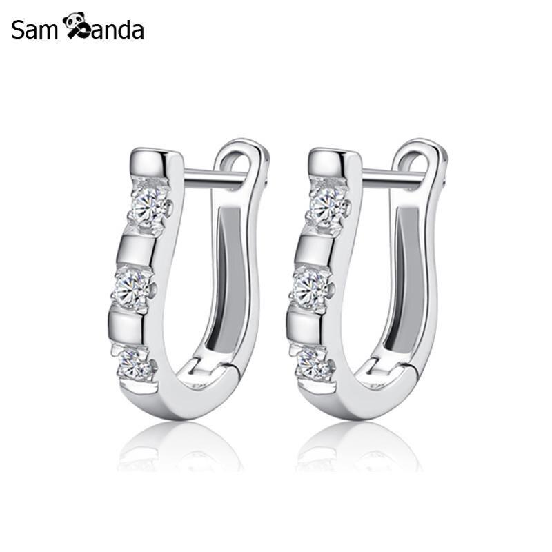 pendientes Sterling Silver Earrings Harp Zircon Studs Horse Shoe Earrings For Women