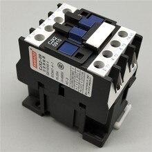 CJX2-0910 LC1 AC Contactor 9A 3 Phase 3-Pole NO Coil Voltage 380V 220V 110V 36V 24V 50/60Hz Din Rail Mounted 3P+1NO Normal Open