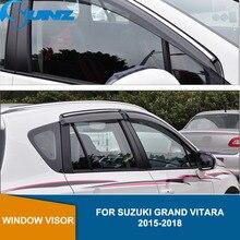 цена на Side Window Deflectors For Suzuki Grand Vitara 2015 2016 2017 2018  Window Visor Vent Shades Sun Rain Deflector Guard  SUNZ