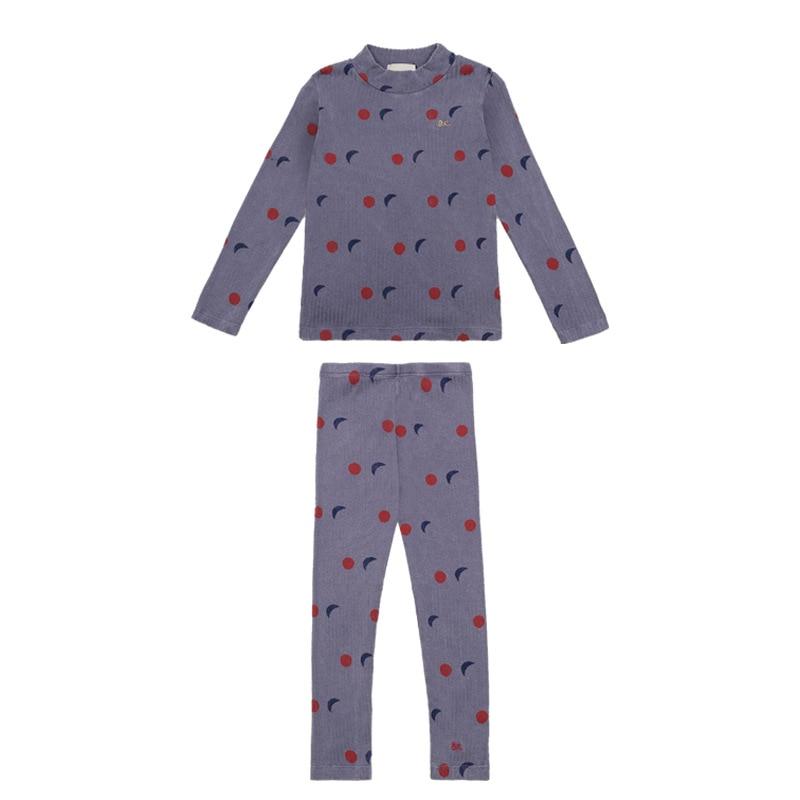 2020 Autumn Winter Girls Clothing Sets Pajama Sets Kids Clothes Vestidos  Long Sleeved T shirts+ Leggings Christmas Clothing 5