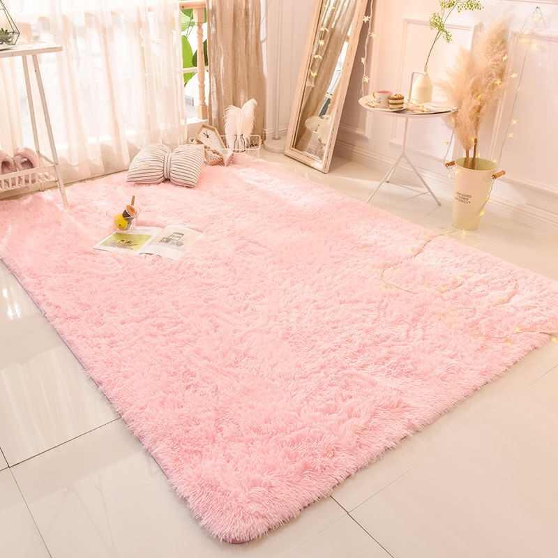 18 farben Rosa Lila Teppich Färben Plüsch Weiche Teppiche Bereich teppich Für Wohnzimmer Schlafzimmer Anti-slip Boden Matten kind Schlafzimmer Matte