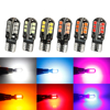2Pcs W5W LED T10 3030 Canbus Bulbs 12/24SMD Car Side Marker Lights Reading Dome Lamp White Blue Yellow Red Pink Green 12V