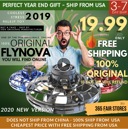 Flynova Fidget Finger Spinner Flying Spinner Returning Gyro UFO Drone
