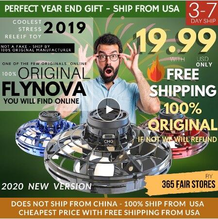 Flynova New Fidget Finger Spinner Flying Spinner Returning Gyro Kids Toy Gift Outdoor Gaming Flynovasaucer UFO Drone