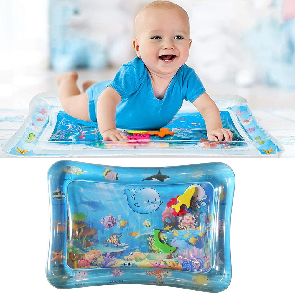 Baby Game Carpet Inflatable Infant PVC Water Play Floor Mat Children Growth Activity Tool Game Play Mat Floor Pad For Baby Toys