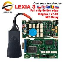 Lexia 3 Chip completo Lexia3 V48/V25 última Diagbox V7.83 PP2000 Lexia 3 Firmware 921815C para Peugeot para Citroen Herramienta de diagnostico