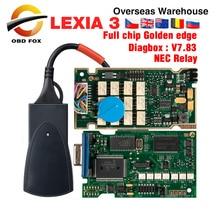 Lexia 3 Volle Chip Lexia3 V48/V25 Neueste Diagbox V7.83 PP2000 Lexia 3 Firmware 921815C für Peugeot für Citroen Diagnostisches Werkzeug
