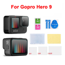 In Stock For GoPro Hero 9 Black Tempered Glass Screen Protector Lens Protection Protective Film for Gopro 9 Camera Accessories cheap BEHORSE CN(Origin) Action Camera Accessories Kits Bundle 1