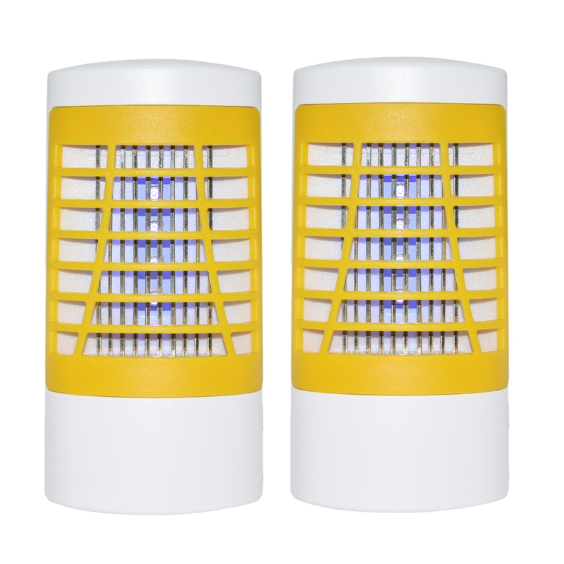 2Pcs Indoor Bug Zapper Mosquito Trap Insect Killer Electronic Pest Control Led Lamp For Camping Hiking And Fishing Night Light W