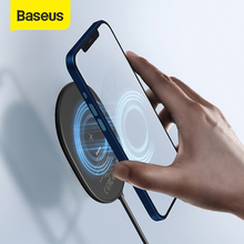 Baseus Magnetic Wireless Charger For iPhone 12 Pro Max Portable Light Charger For iPhone 12 Mini Ultra Thin Charger Fast