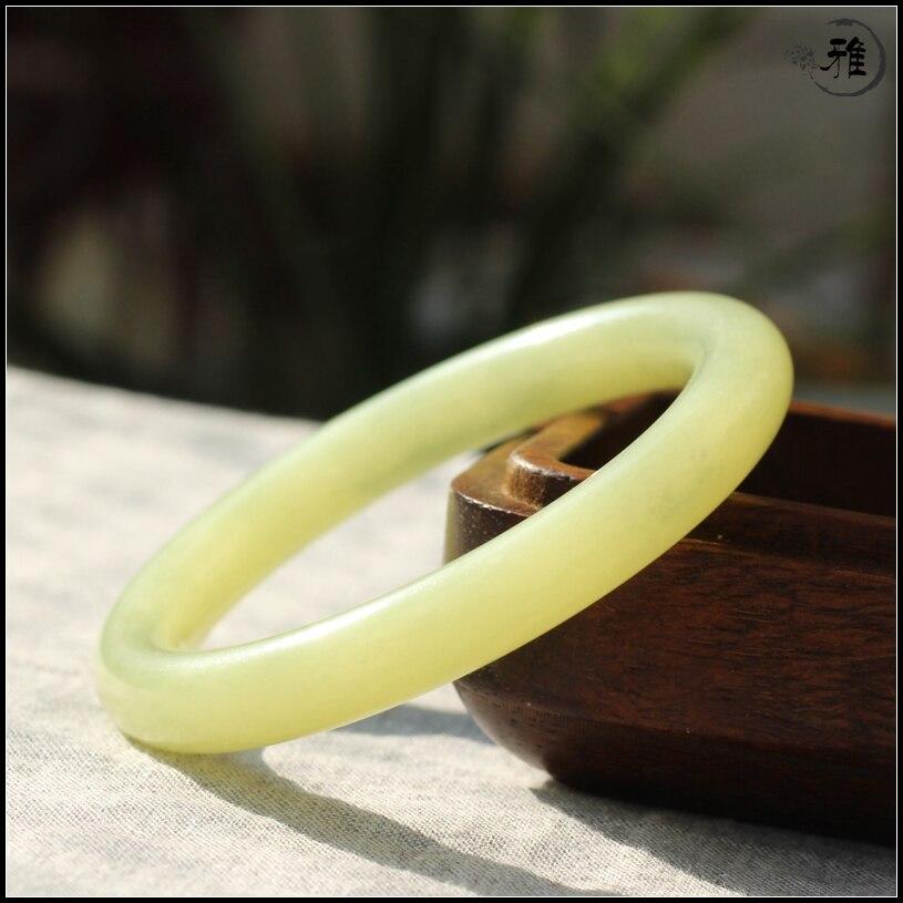 Qinghai huangkou matériau couleur zhenghetianyu diamètre intérieur 55mm 60mm mince rond étroit anneau bouche bracelet yu bracelet - 5