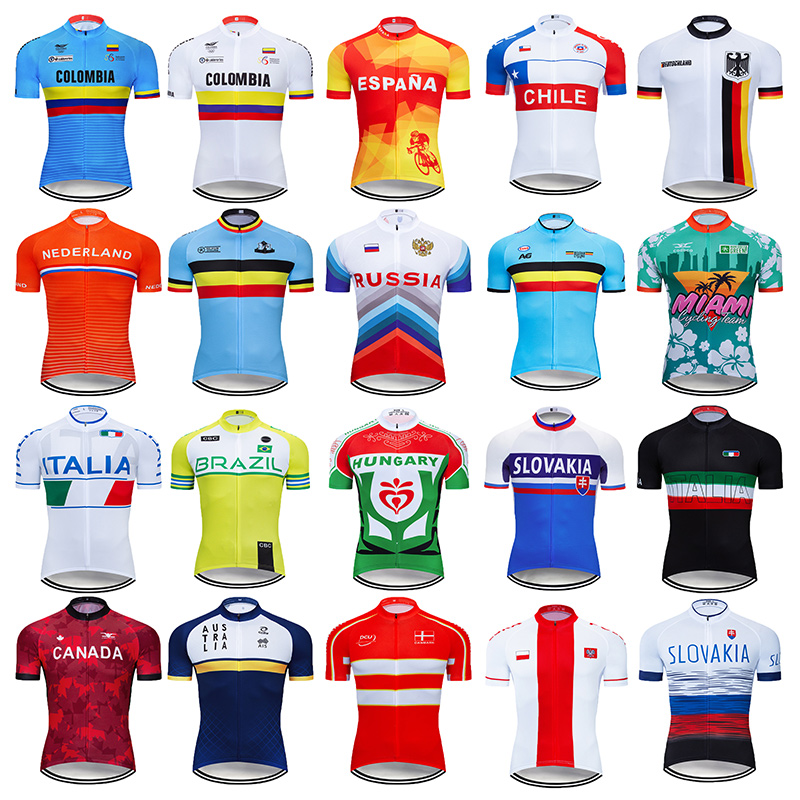 Summer 2020 National Team Cycling Clothing Mtb Uniform Men's Short Jersey Ropa Ciclismo Bicycle Clothes Quick Dry Bike Wear