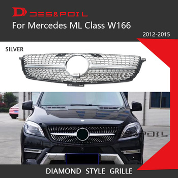 ML Class GT Diamond Grill W164 W166 For Mercedes Benz Auto Front Grille 2005-2015 ML320 ML350 ML400 ML500 ML550