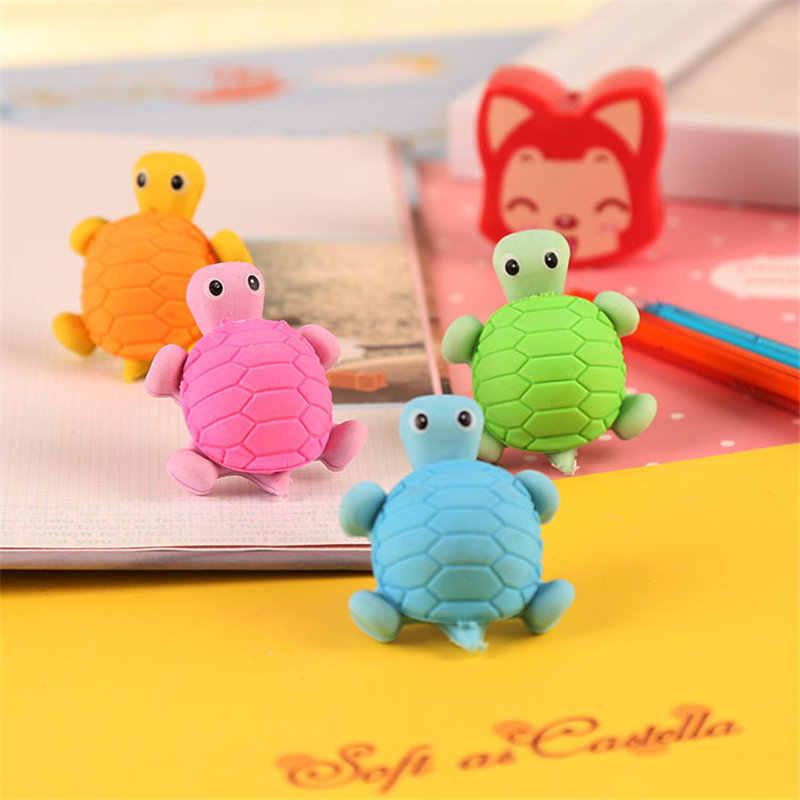 Neuheit Cartoon Schildkröte Gummi Radiergummi Kawaii Kreative Studenten Schreibwaren Büro Schule Liefert Geschenk für Kinder
