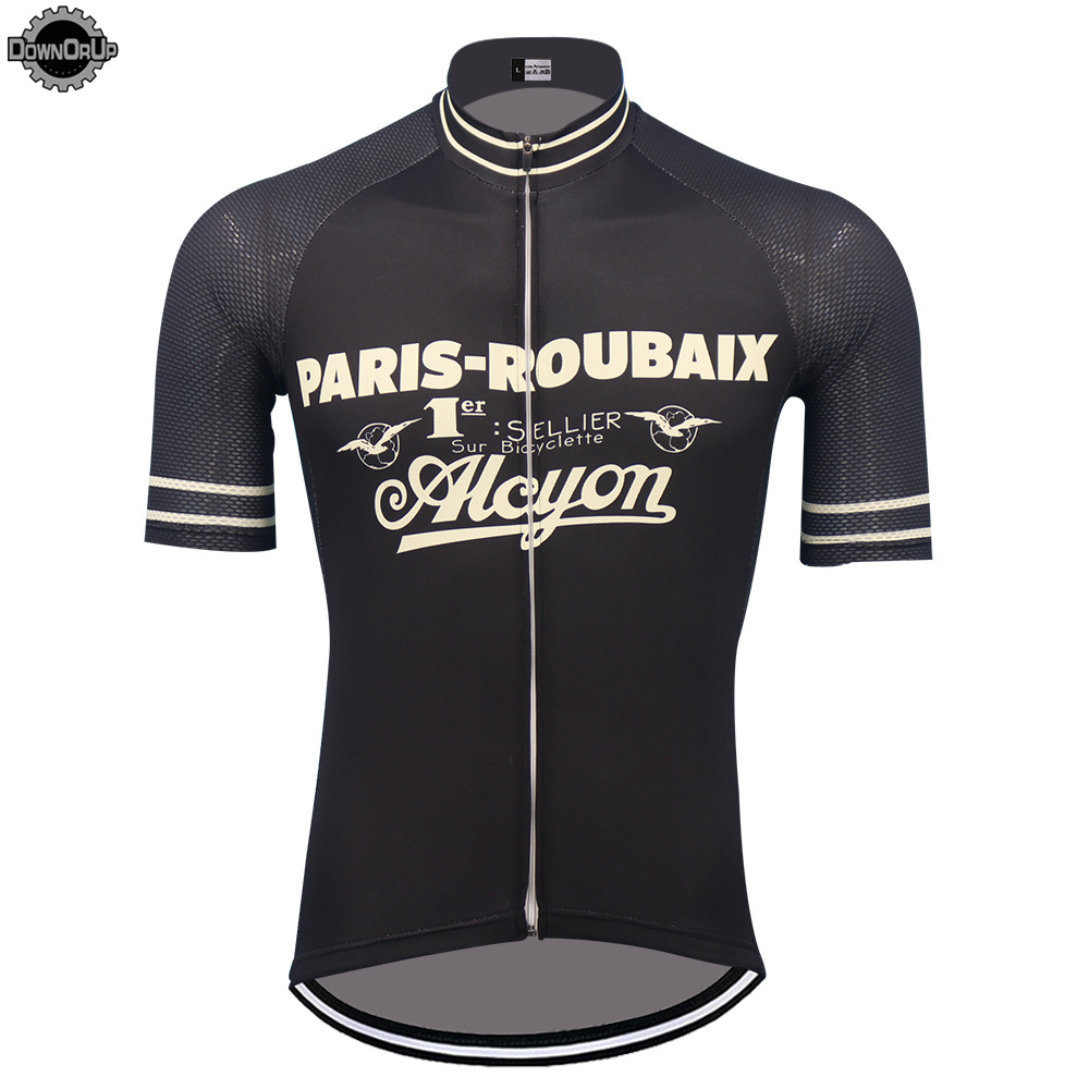 PARIS Cycling Jersey 2019 Mtb Jersey Black Cycling Clothing Men Short Sleeve Triathlon Bicycle Clothes Maillot Ciclismo