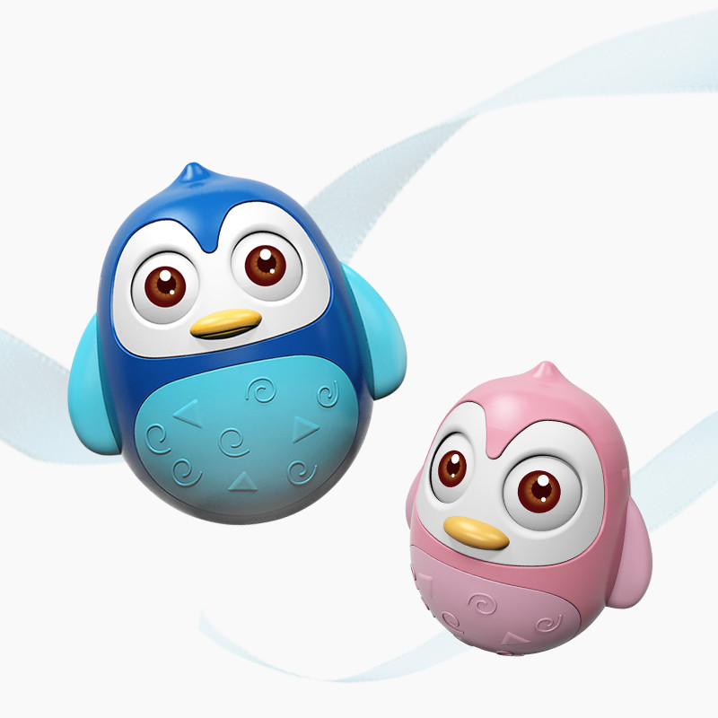 Penguin Tumbler Early Education Rattle 3-6-8-12 Month Baby Educational Hand Ball Cross Border Amazon Toy