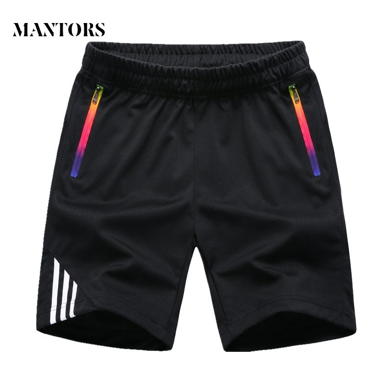 Summer Shorts Men 2019 New Solid Breathable Boardshorts Male Casual Fitness Striped Men's Sportswear Jogger Bodybuilding Shorts