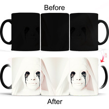 New 350ml Magic Mug Horror Story Female Heat Changing Color Mugs Ceramic Milk Tea Office Coffee Cup Christmas Creative Gifts