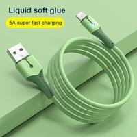 Cable USB de 5A y 8 pines para móvil, Cable de carga de silicona líquida para iPhone 12 Mini 12 Pro Max X XR 11 XS 8 7 6s