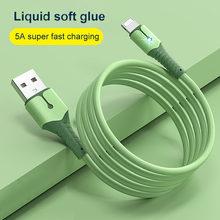 5a 8 pinos cabo usb para iphone 12 mini pro max x xr 11 xs 8 7 6s silicone líquido cabo de carregamento do telefone cabo de dados usb