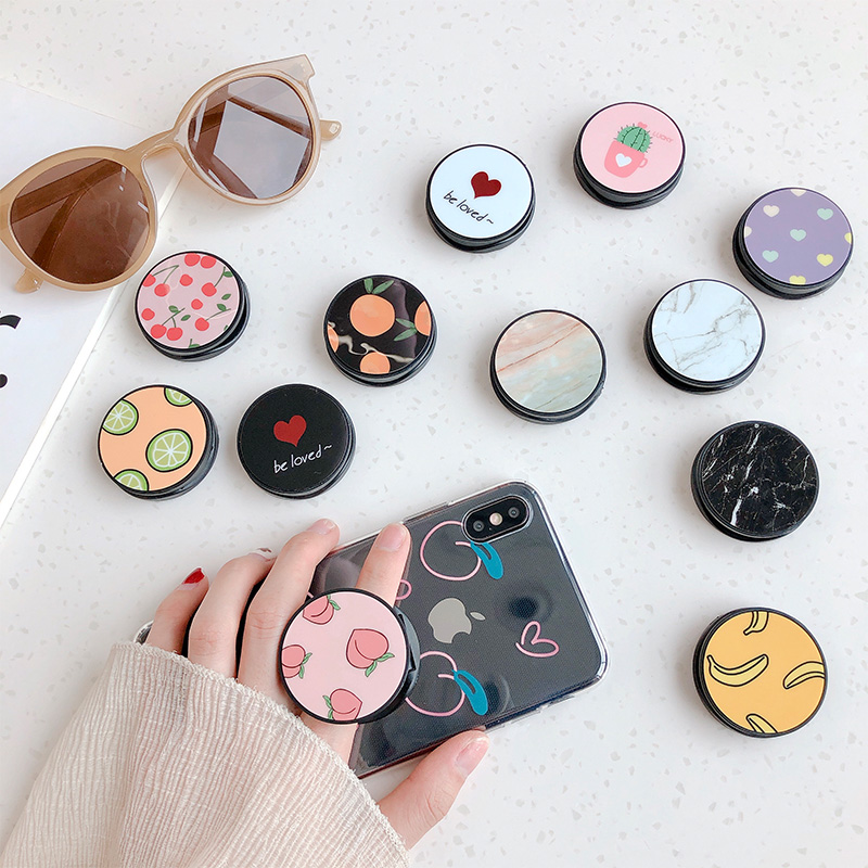 NEW Luxury Love Heart Stars Foldable Phone Stand Holders For Smartphones And Tablets Mobile Phone Universal Finger Ring Holder