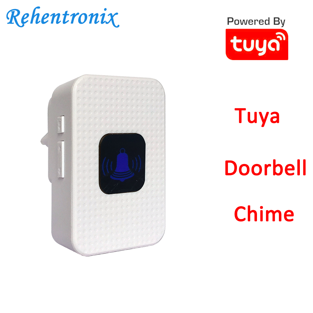 White Color Tuya Video Doorbell Chime AU US UK EU Works With TD6 TD8 Video Doorbell