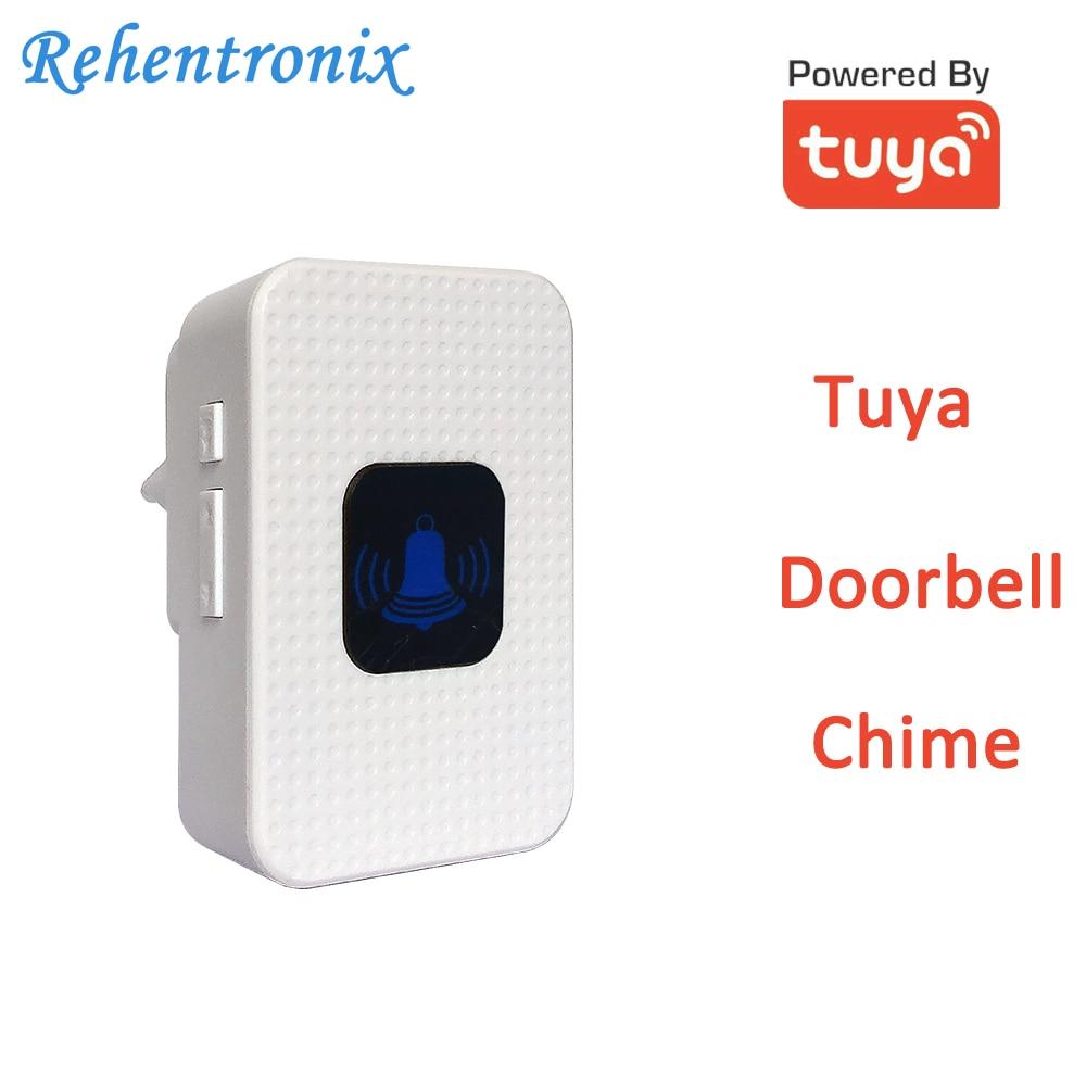 White Color Tuya Video Doorbell Chime AU US UK EU Works With TD6 TD8 Video Doorbell