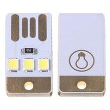 Миниатюрный карманный светодиодный Ночной светильник, лампа с картой и белым светодиодом, брелок с питанием от USB