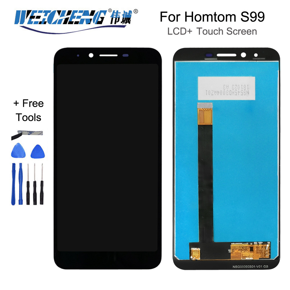 5.5''Black For Homtom S99 LCD Display+Touch Screen Digitizer Assembly For Homtom S99 Accessory+Tools+Adhesive(China)