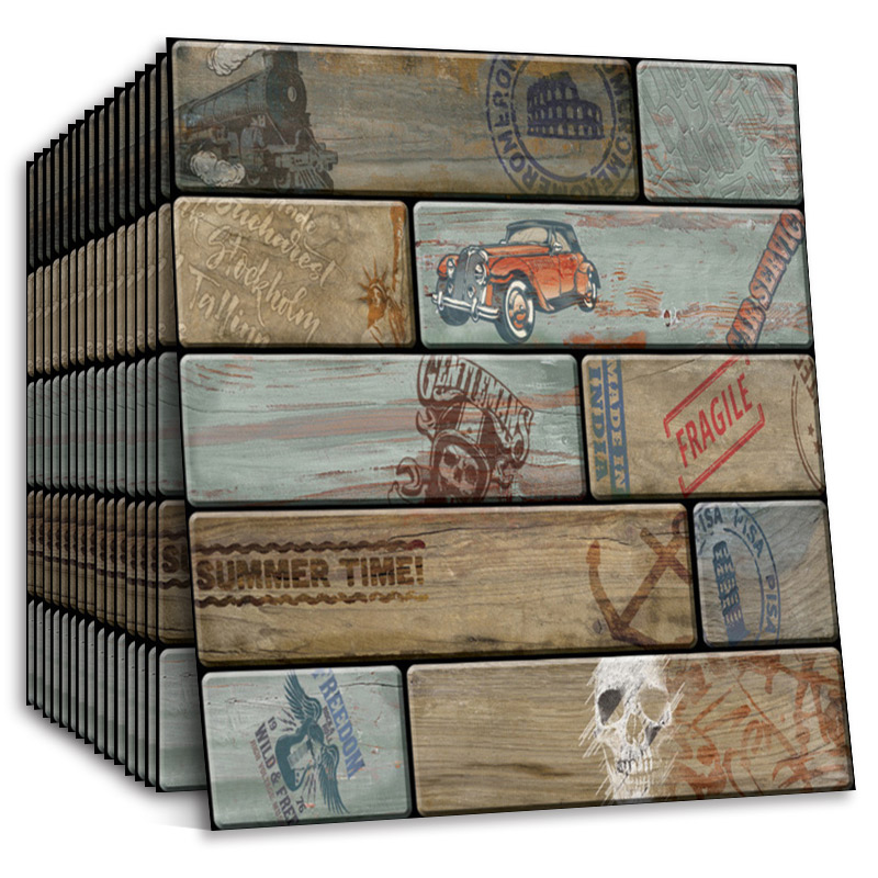 Reclaimed Peel and Stick Wallpaper Wood Removable Contact Prepasted Wall Adhesive Shelf Paper Plank Vintage Barnwood for Barber