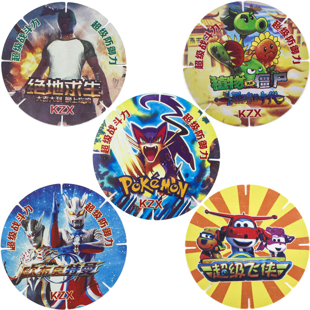 Takara Tomy Pokemon Cards Collections Plants Zombies PUBG Ultraman Wings Card Collections PVC Toys For Children Blocks Snowflake