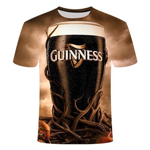Летняя футболка с 3D принтом в виде пива, покера, для мужчин и женщин, забавная Новинка, футболка с круглым вырезом и коротким рукавом, топы, модные уличные мужские футболки - Цвет: TX019