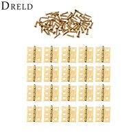 DRELD 20 piezas 18*16mm Mini bisagras de armario Herrajes para muebles pequeñas bisagras de puerta decorativas para joyero muebles Hardware Bisagras de armario Mejoras para el hogar -