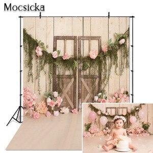 Image 1 - Mocsicka çocuk fotoğraf Backdrop bebek 1st doğum günü partisi şut kek dekor portre Photoshoot stüdyo arka plan Photocall